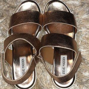 Steve Madden Rachel Rose Gold Platform Sandal